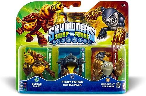 Figurine Skylanders : Swap Force - Battle Pack 1 - Bumble Blast + Knockout Terrafin + Fiery Forge