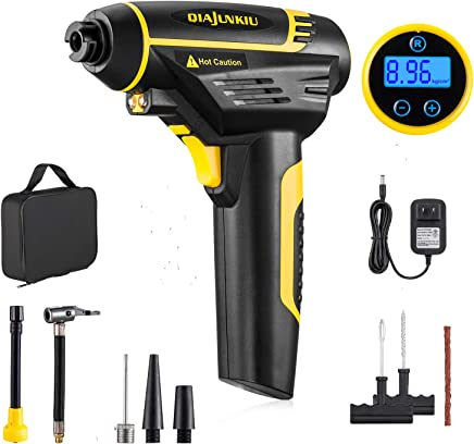 Cordless Tire Inflator,Air Compressor,150 PSI Digital Portable Hand Held Air Pump with