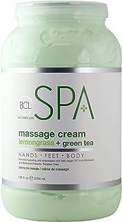 BCL SPA Massage Cream Lemongrass + Green Tea,128 oz