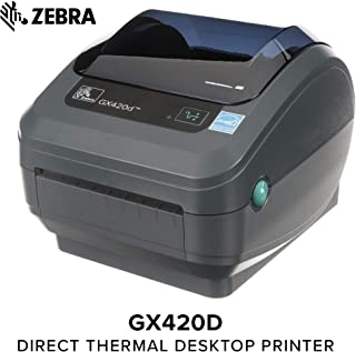 Zebra GX420D Thermal Label Barcode Printer GX42-202410-000 (Renewed)