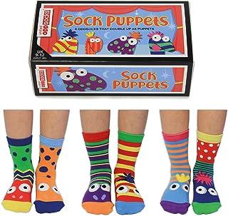 United Oddsocks, Marionetas de calcetín, Caja de 6 Calcetines para niños de 9 a 12, EUR 27 a 30, US 9,5 a 13