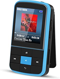 AGPTEK G15 16GB Bluetooth 4.0 MP3 Player, Wearable Clip Supports Playlist FM Radio with Sport Armband, Expandable Up to 12...