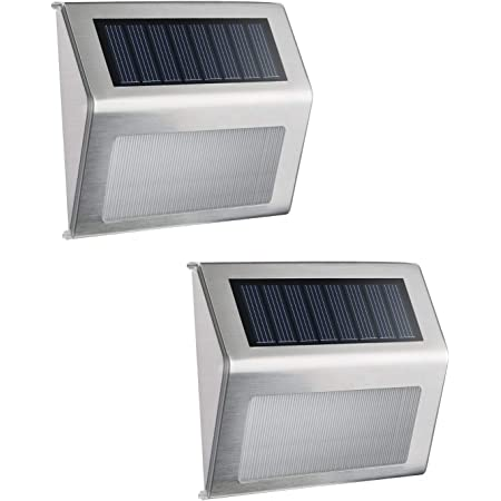 Solar Panel Powered Step Light Outdoor Garden 6 LED Security Lamp Fence Lighting