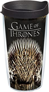 Tervis HBO Game of Thrones - Iron Throne Insulated Travel Tumbler with Wrap & Lid, 16 oz - Tritan, Clear