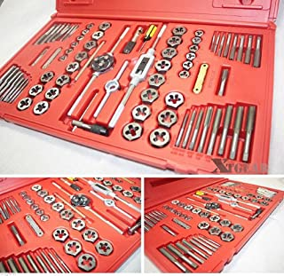 76Pc Hexagon Tool Tap and Die SAE MM Metric High Alloy Steel
