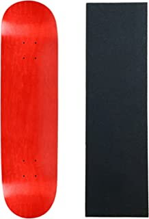 Skateboard Deck Pro 7-Ply Canadian Maple Stained RED with Griptape