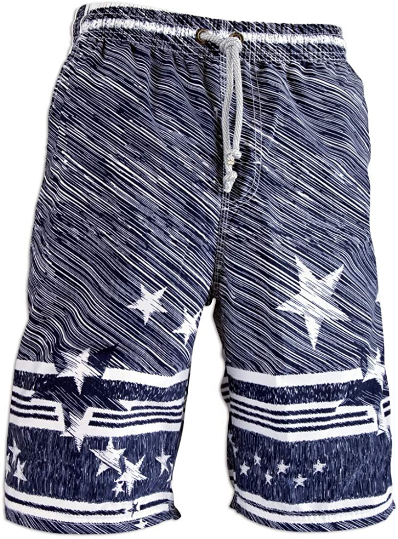 PREFER TO LIFE Men's Board Shorts, Quick Dry Swimwear Beach Holiday Party Bermuda Swim Big Pants …