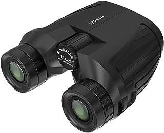 SZRSTH 12x25 Binoculars, Adults Kids Compact Bird Watching Binocular with 17mm Eyepiece BaK4 Prism FMC Lenses, Waterproof Binoculars for Hunting, Birding, Hiking, Sports (Black)