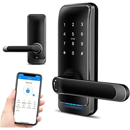 Smart Keypad Door Lock, Keyless Entry Door Lock, Digital Deadbolt Locks  with Anti-Theft Password, Bluetooth Fingerprint Biometric Electric Front  Door Lever Lock, WiFi Code Key Home Office Lock by Luston - -