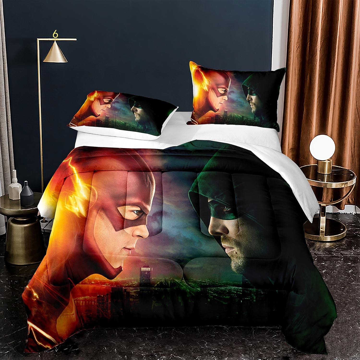 SOEWBBER The Flash Comforter Set for Superhe Charlotte Mall Direct stock discount Twin Size Kids Boys