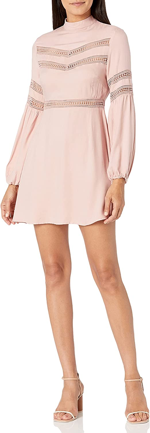 Jack Women's Give Me The Details Rayon Twill Dress W/Lace Trim Cutouts