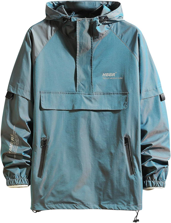 Novelty Color Block Men Hoodies Big pocket Sport Outwear