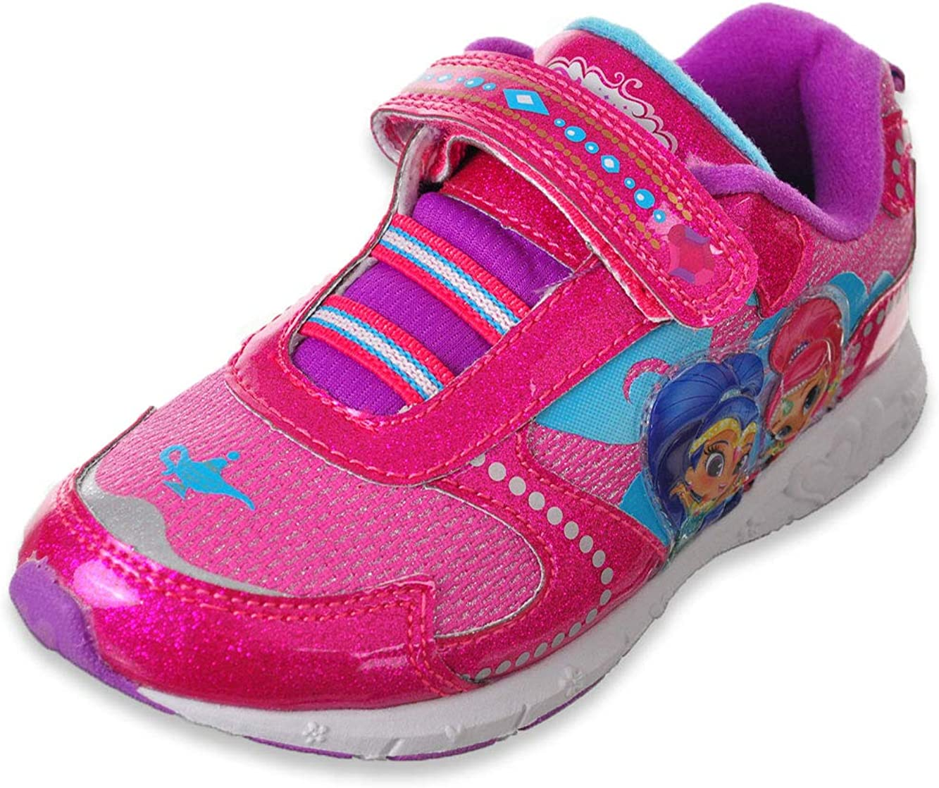 Josmo Shoes Shimmer and Shine Girls Dark Pink Light Up Sneaker - 7