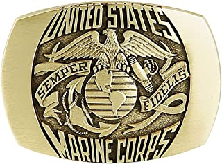 Marine Corps Belt Buckle Solid Brass Made in U.S.A.