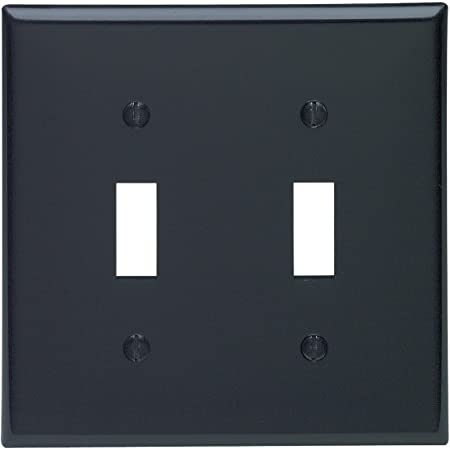 Enerlites Toggle Light Switch Wall Plate Standard Size 1 Gang 4 50 X 2 76 Unbreakable Polycarbonate Thermoplastic 8811 Bk 10pcs Glossy Black 10 Pack