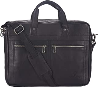 Wildhorn Genuine Leather Messenger Bag, Stylish 16 Inches Laptop Bag with Storage and Padded Compartments