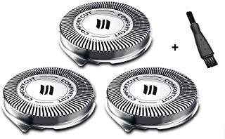 MSDADA SH30 / 52 Shavers Replacement Heads Compatible for Philips Norelco Series 1000, 2000, 3000 Shavers and S738 Click and Style, Sharp(3 Pieces)
