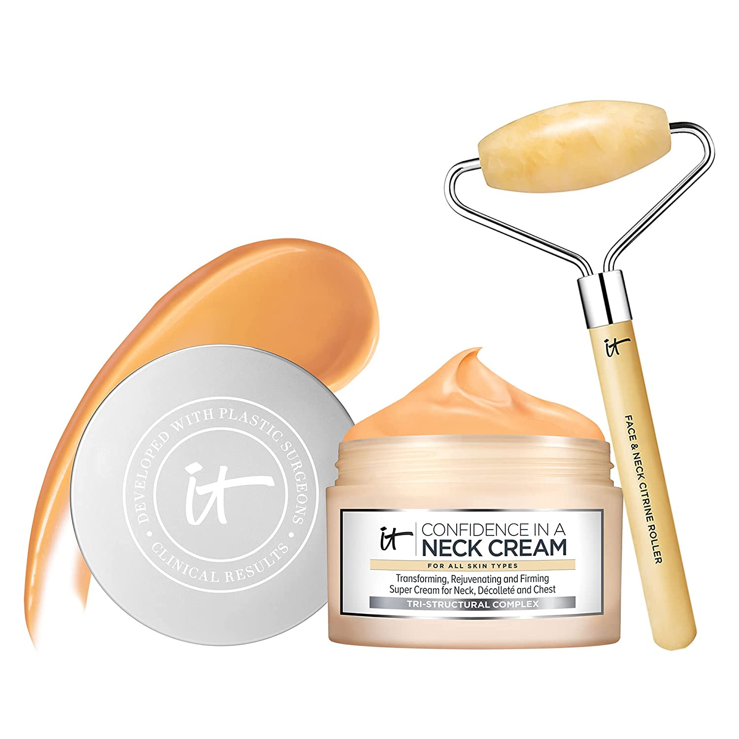 ! Super beauty product restock quality top! IT Max 79% OFF Cosmetics Smooth Tighten Skincare Confidence Includes Set -