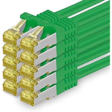 Cat 7 Netzwerkkabel 0 5m Grün 10 Stück Cat7 Elektronik