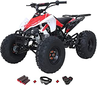 X-Pro 125cc ATV Quad Youth 4 Wheeler ATVs Adults ATV 4 Wheelers Thunder 125cc ATVs Quads with Gloves, Goggle and Handgrip
