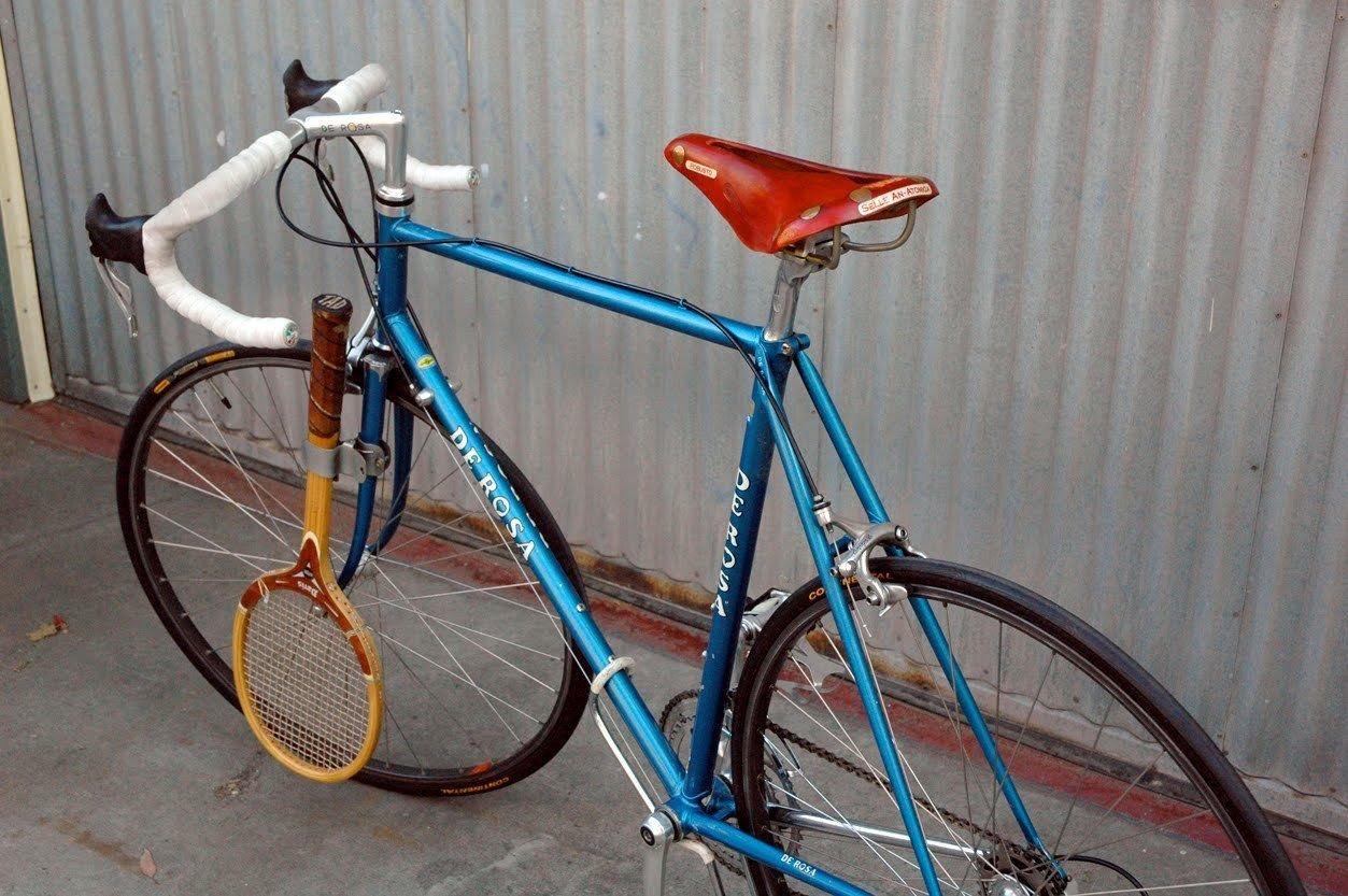 Raqueta de Tenis de Estilo Retro para Bicicleta, con Pinza para Llevar una Raqueta de Tenis en tu Bicicleta, Ideal para Bicicleta clásica o clásica: Amazon.es: Deportes y aire libre