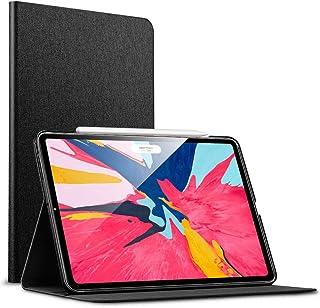 ESR iPad Pro 11 ケース Apple Pencil2のペアリングとワイヤレス充電対応 iPad Pro 11 カバー レザー 合皮 スリムフィット シンプル 手帳型 スエード柔らかな内側 スタンド機能 オートスリープ 傷つけ防止 二つ折 2018年秋発売のiPro 11インチ専用(黒)