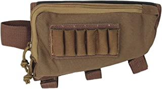 Tactical Sharpshooter Rifle Stock Pack   Cheek Pad   Buttstock Ammo Holder   Zippered Utility Pouch