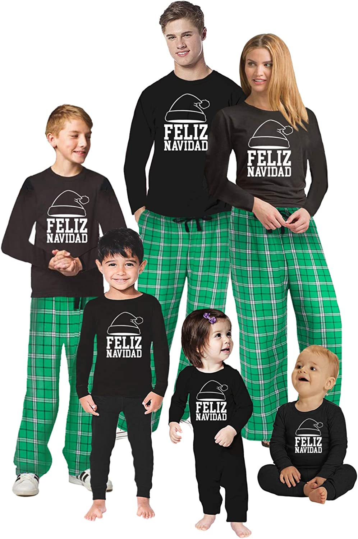 Awkward Styles Family Christmas Pajamas Set Green Let's Get Lit Matching Sleepwear Feliz Navidad Pajamas Men PJ Set XL