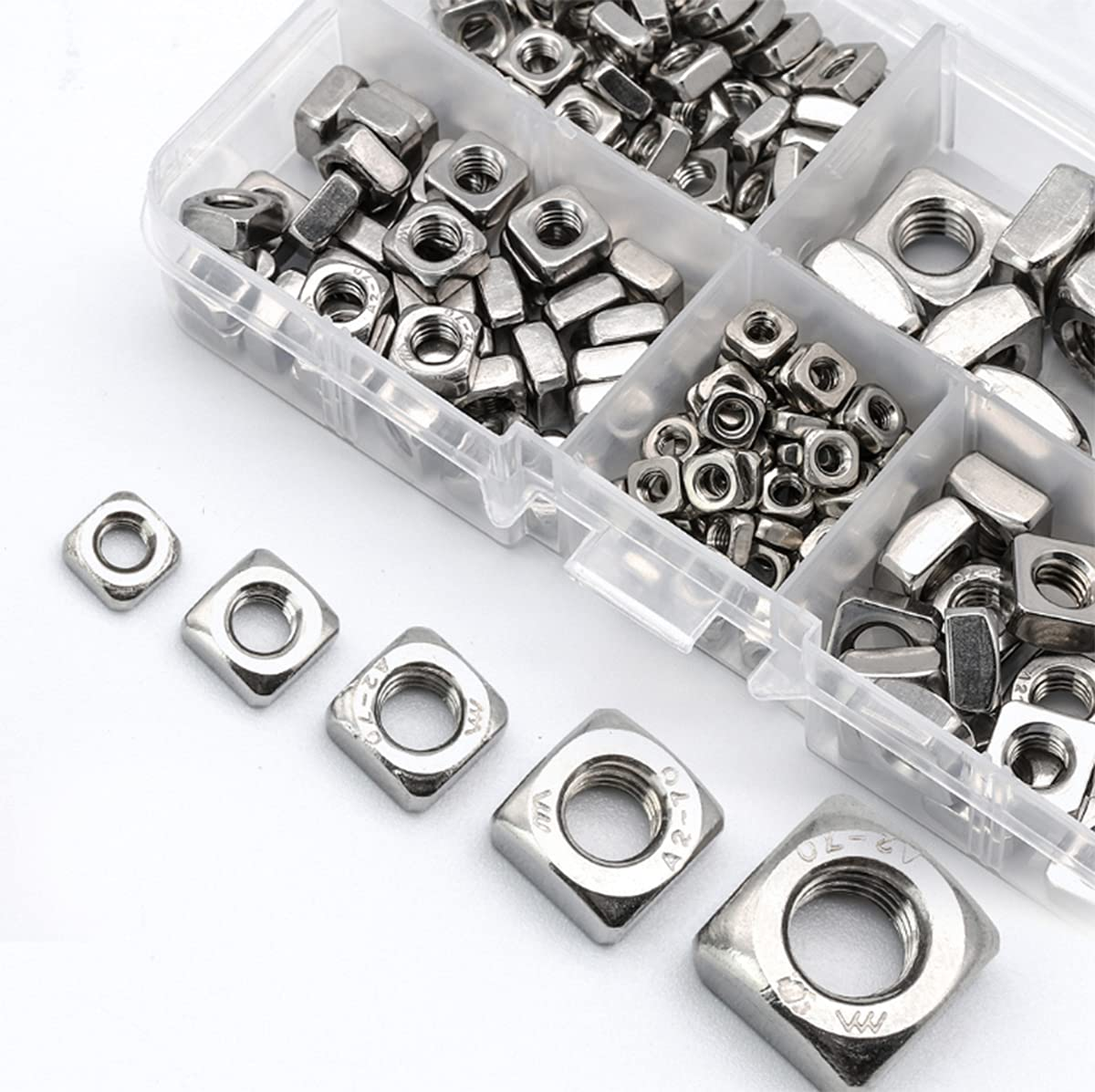 Square Nuts Lock Metric Kansas City Mall Coarse Steel 304 Stainless Fixed price for sale M Thread