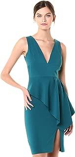 Laundry by Shelli Segal Women's V-Neck Peplum Dress