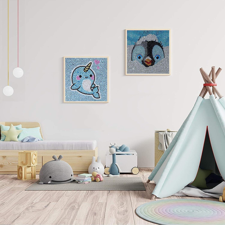 Narwhal+Penguin DIY Cross Stitch Stickerei Malerei Kits Stickerei Kunsthandwerk House Wall Dekoration Diamant Malerei Malen Nach Zahlen Full Drill Kristall Set UniBaby7 5D Diamond Painting