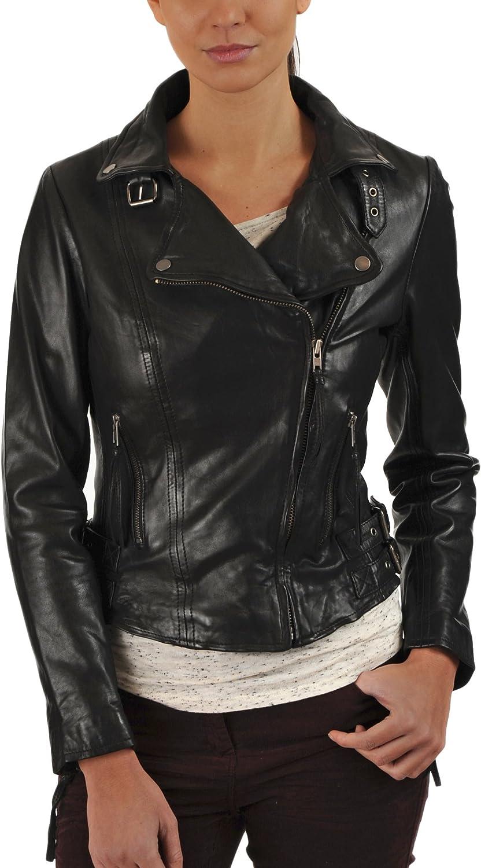 100% New Genuine Leather Lambskin Women Biker Motorcycle Jacket Ladies LTN221