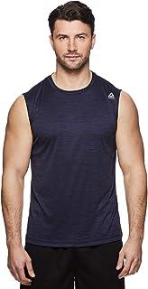 ريبوك تانك توب بلا أكمام يبرز العضلات للرجال - قميص رياضي بدون أكمام للتمارين الرياضية والتمرين