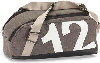 360°-Segeltuchtaschen 360°-Segeltuchtaschen Tasche Persenning, Container grau|Zahl weiß
