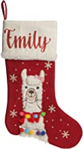The Christmas Cart Personalised Gifts & Keepsakes Personalised Girl Llama Stocking, Christmas Décor to Display on Mantle o...