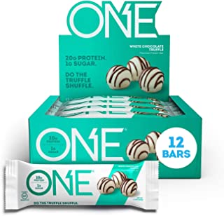 ONE Protein Bars, White Chocolate Truffle, Gluten Free Protein Bars with 20g Protein and only 1g Sugar, Guilt-Free Snackin...