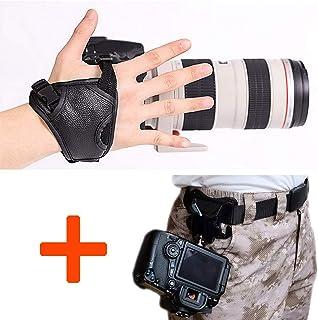 WITHLIN Kit de fotografía - botón de hebilla de cinturón de cintura + cámara agarre muñeca banda correa para cámara SLR réflex digital (Canon Nikon Sony Pentax Olympus etc.)