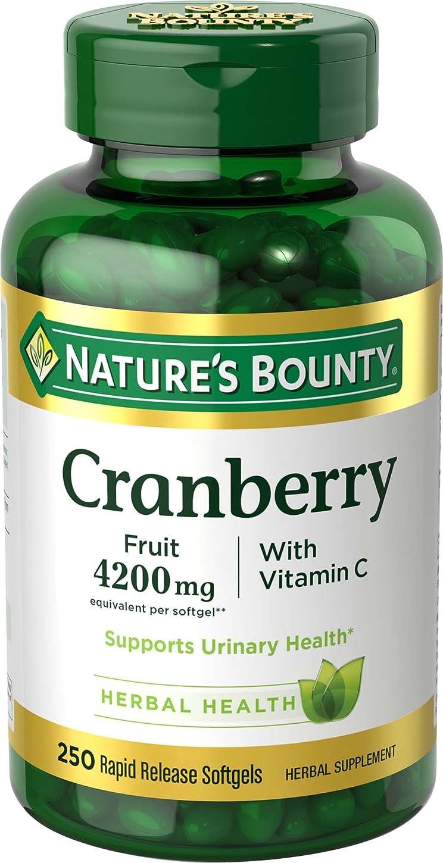 シンポジウム枝これまでNature's Bounty (ネイチャーズバウンティ) クランベリー ビタミンC 4200 mg ソフトジェル 250粒 [海外直送品]
