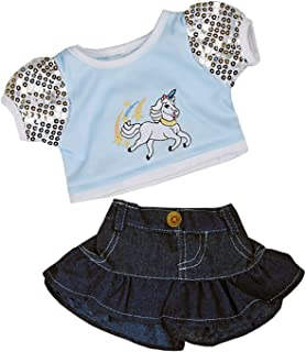 Unicorn Glitter Outfit Teddy Bear Clothes Outfit Fits Most 14