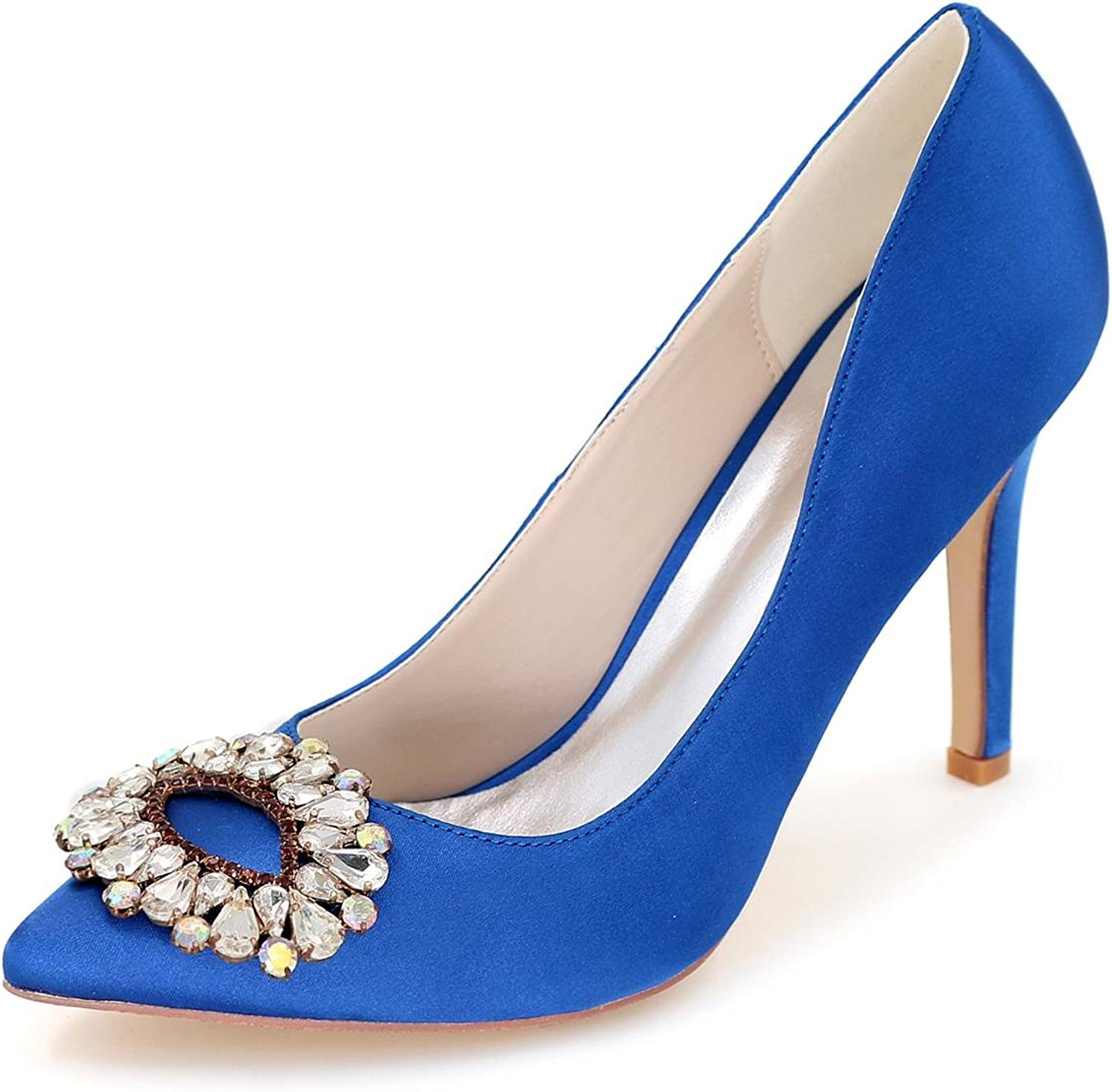 L@YC F Women's Wedding shoes Spring Summer Autumn Terrace Satin Evening Office & Professional Dress Up Leisure Party