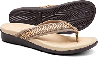 Orkii Womens Plantar Fasciitis Feet Sandals, Best OrthoticFlip Flops with Arch Support, Comfortable Walking Sandals