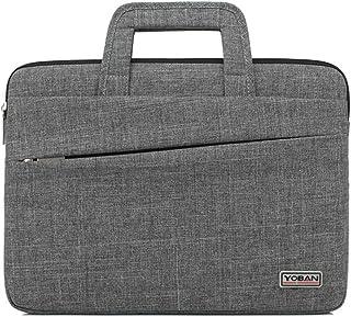 JJJJD Laptop Computer Tablet Bag Travel Briefcase Shoulder Bag Business Messenger Handbag for Men Women (Color : Gray, Size : 14inch)