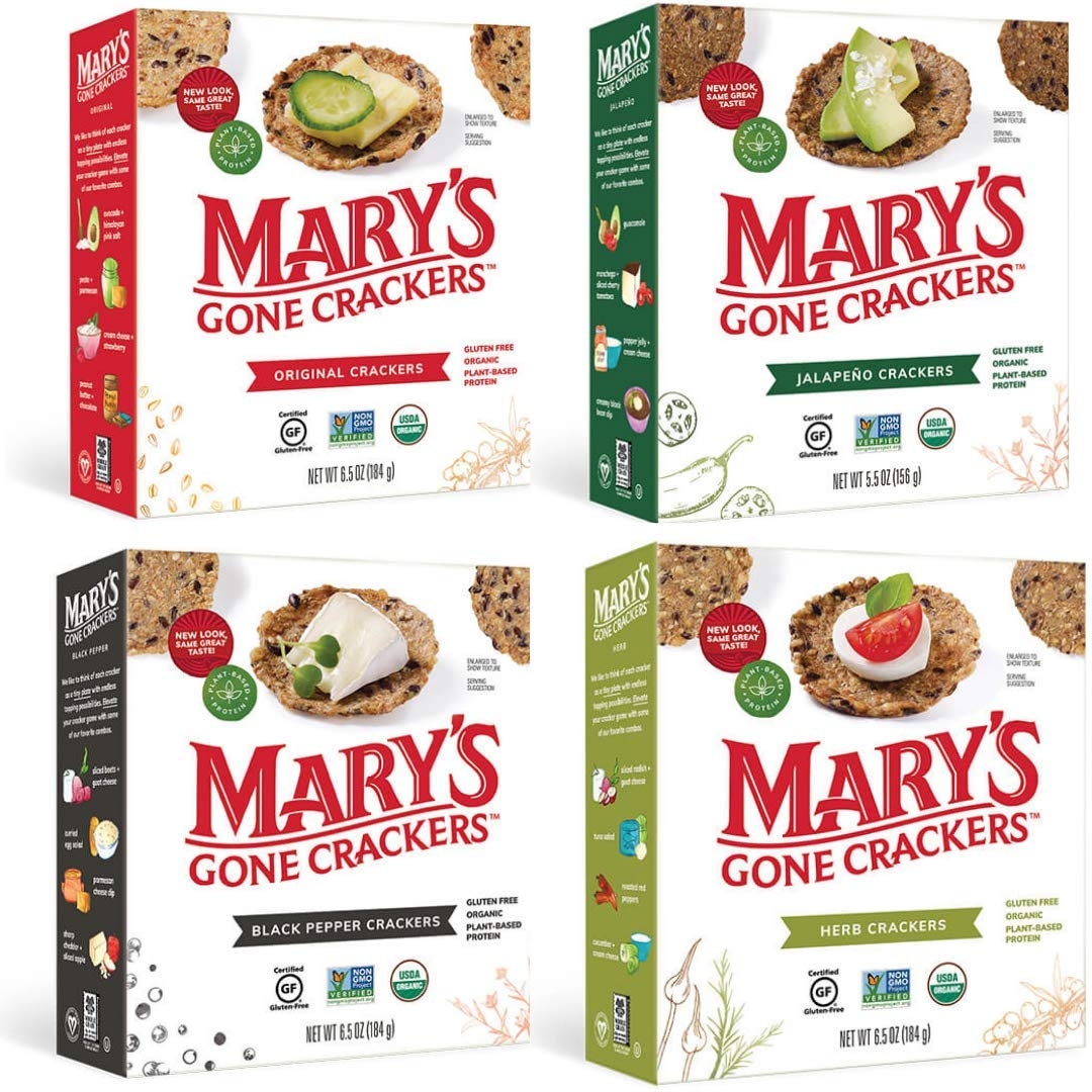 Directly managed Genuine Free Shipping store Mary's Gone Crackers Variety Pack 6.5 Flavors oz In 4