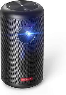 Nebula Capsule II Smart Mini Projector, by Anker, Palm-Sized 200 ANSI Lumen 720p HD Portable Projector with Wi-Fi, DLP, 8W...
