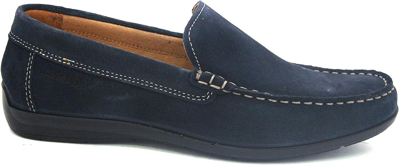 ENVAL SOFT men's shoes moccasin 3235633 blueE