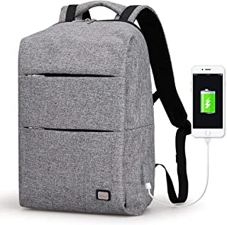 *New Mark Ryden Business Water Resistant Polyester Laptop Backpack with USB Charging Port Fits Under 15.6 Inch Laptop and ...