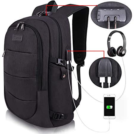 DJNGN Sac /à Dos USB pour Ordinateur Portable Ye r-o-c-k-e-t League Backpack Personality with USB Backpack Laptop Bag Waterproof Travel Daypack for School