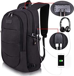 College Laptop Backpack Water Resistant Anti-Theft Bag with USB Charging Port and Lock 14/15.6 Inch Computer Business Back...