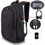 Travel Laptop Backpack Water Resistant Anti-Theft Bag with USB Charging Port and Lock 14/15.6...
