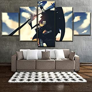 Zcbm 3D Prints on Canvas Modern Home Wall Decor 5 Pieces Cartoon Soul Eater Death The Kid Canvases Picture Art HD Artworks,A,30x40x2+30x60x2+30x80x1